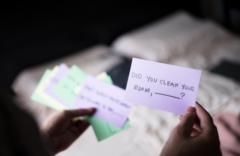 Did you clean your room, _______?
